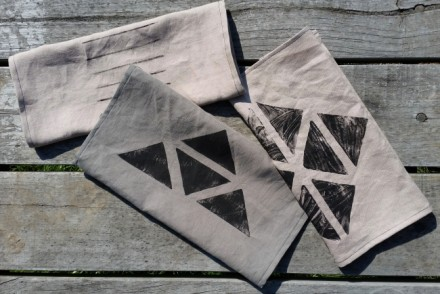 DIY PROJECT__Hand Printed Tea Towels