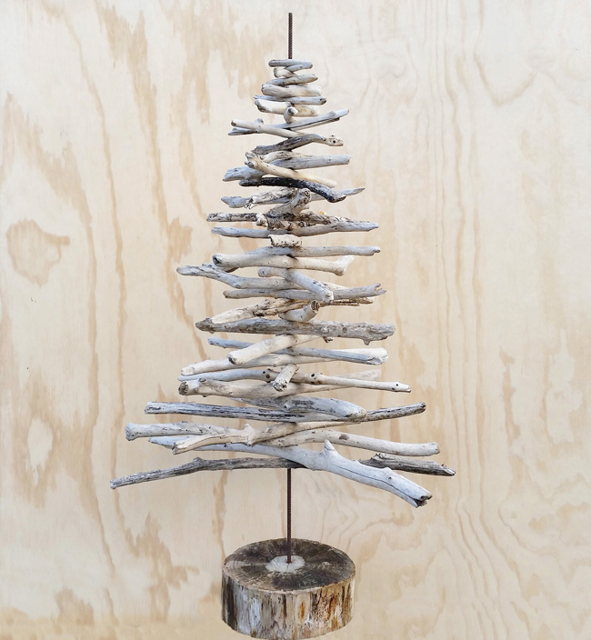 Diy Project Driftwood Christmas Tree Threadbare Cloak