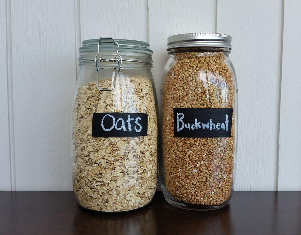 DIY Project || Painted Chalk Labels on Glass Jars