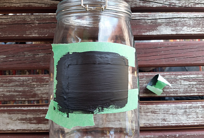 Painted Chalk Labels on Glass Jars