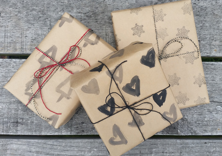 Hand Painted Gift Wrap