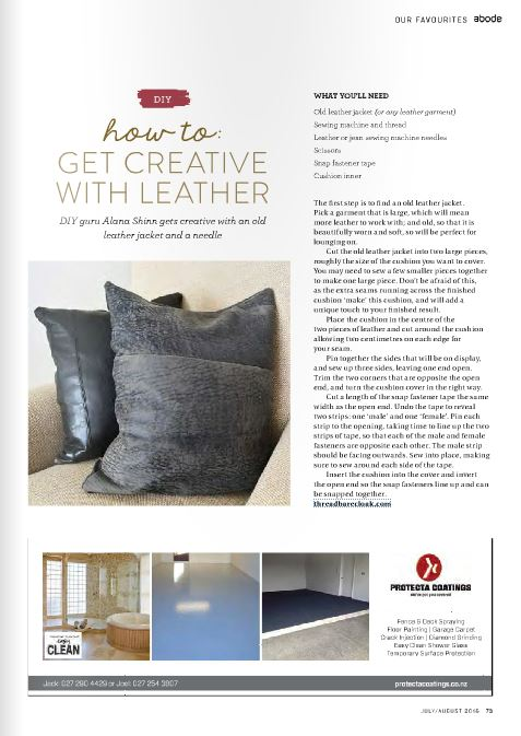 DIY Leather Cushions