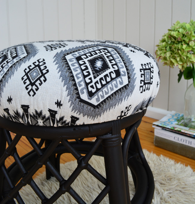 How to Reupholster a Stool - The Easy Way