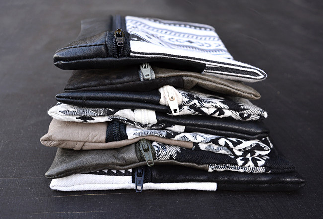 Recycled Leather & Fabric Zip Pouch Tutorial