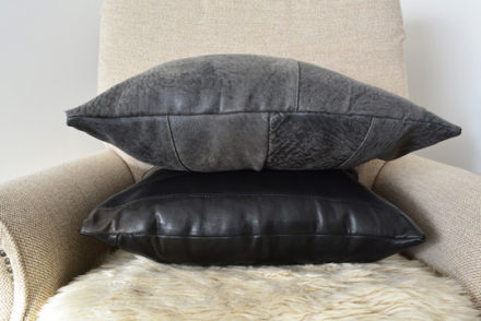 How to make a cushion cover out of a leather jacket